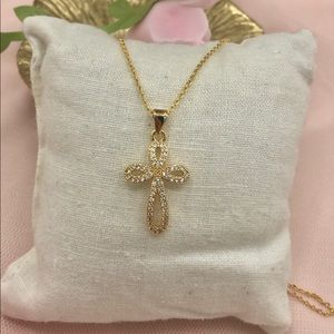 Delicate Cross pendant and necklace jewelry